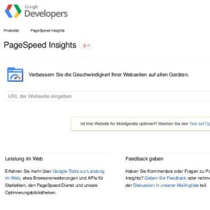 Page speed insight, ...