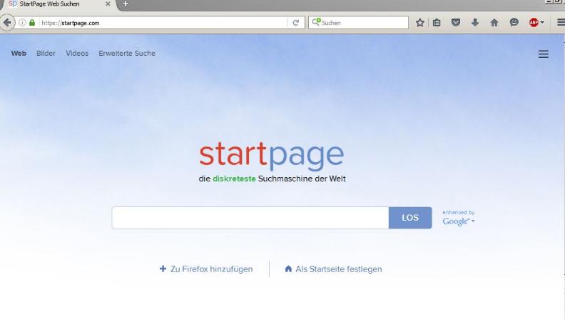 StartPage schützt Ihre Privatsphäre!