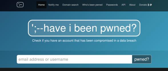 Ist Ihr E-Mail / Benutzername schon gehackt worden?